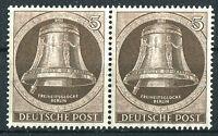 Berlin 75 waagerechtes Paar postfrisch Glocke Klöppel links 1951 ungefaltet MNH