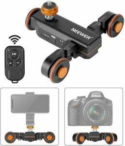 Neewer 3-Wheel Wireless Video Camera Dolly 3-Speed Motorized Electric & Remote