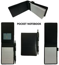 "Pocket Notepad Cover Server Book Waiter Memo Order Pad Organizer Black 5"" x 3.5"""