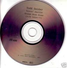 TODD SNIDER Talkin Seattle Grunge Rock Blues PROMO CD