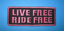 `LIVE FREE,RIDE FREE` SEW OR IRON ON PATCH
