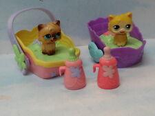Vintage Hasbro 06 Littlest Pet Shop Magic Motion Playsets Siamese & Persian Cats
