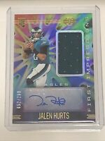 💦2020 Illusions Jalen Hurts Eagles Rookie Jersey Patch Auto RPA #/299 💦