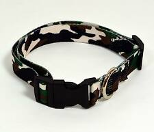"""NEW 1"""" Wide Dog Collar Camouflage Large 16""""-25"""" Neck"""