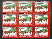 Us, 1947 Christmas Seal Constant Flaw, Detached Oxen Foot, Wx136, Mnh