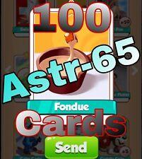 Coin Master :-) 100x Fondue Card- Lighting Fast Sending Speed