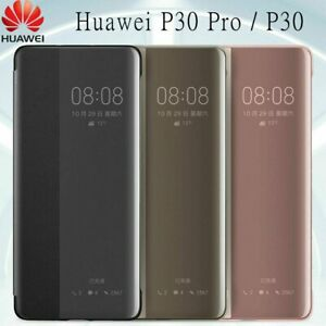 Original Huawei P30 P30Pro Smart Touch Clear View Leather Flip Case Cover 2021