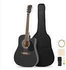 MATICO 41 Inch 6 Strings Acoustic Guitar Student Pack, Handmade Cutaway Basswood