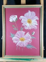 STILL LIFE LOVELY PEONY ?? FLOWERS WATERCOLOUR PAINTING SIGNED A. NOBLE