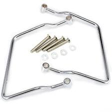 Chrome Saddlebag Support Brackets Harley Dyna Softail Sportster Models 13mm Hole