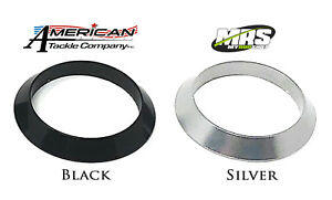 Aluminum Tapered Winding Checks - Black & Silver for Fly, Spin or Casting Rods