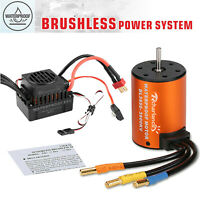 60A Waterproof ESC+Brushless 3900KV Motor For 1/10 Traxxas Slash Rustler Bigfoot