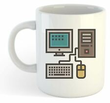 Geek Mug - Desktop Pc Monitor Keyboard Mouse
