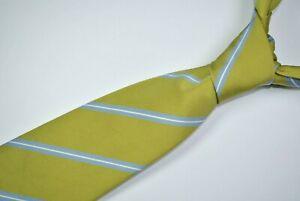 DRAKE'S FOR BARNEYS NEW YORK Tie 60% Silk 40% Cotton Green/Blue Color L61 W3.5