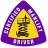 2x Manlift Driver Hart Hat Osha Union Pipelifter sticker Decal USA joke Helmet