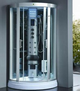 XXL Luxus LED Dampfdusche 95 Dusche Duschtempel Komplettdusche Duschkabine+Radio
