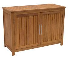 Gartenschrank Holz Geräteschrank Pflanztisch Gartenmöbel Truhe 120x50x85cm, FSC