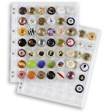 Feuilles transparentes Encap pour ranger 42 plaques de muselets de champagne.