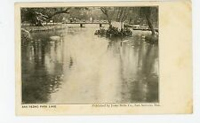 San Pedro Park Lake ANTIQUE—SAN ANTONIO TX Joske Bros Pub UDB <1908