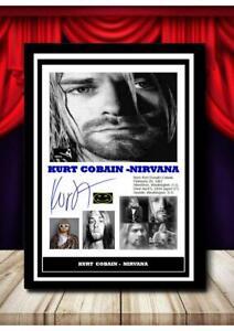 (187)  kurt cobain nirvana signed photograph unframed/framed  (reprint) @@@@@@@
