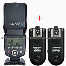 Yongnuo YN-560 IV + RF-603 II Wireless Flash Speedlite + Flash Trigger for Canon