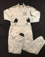 OMP racing suit Nomex Fire Resistant Race ASA WORN CREW Silver Stock Car Italy