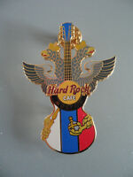 Hard Rock Cafe Moscow Russia  - City Flag Guitar with Crowned Eagle - HRC Pin