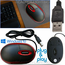 USB Wired Scroll Wheel Optical Mini Mouse For Mac Windows 7 8 10 Red Mouse Mice