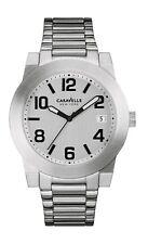Caravelle Men's 43B142 Quartz Silver-Tone Bracelet 44mm Watch