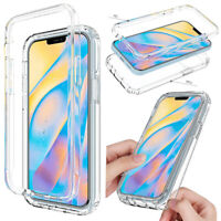 For iPhone 12 Pro Max, 12 Mini, 11 Case Clear Shockproof Thin Slim Hybrid Cover
