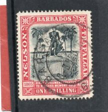 Barbados EV11 1906 Nelson 1s black&rose sg 151 Used