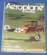AEROPLANE MONTHLY MARCH 1974 - FOKKER TRIPLANE REPLICAS