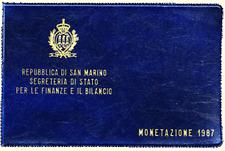 Divisionale Lira San Marino 1987 XV RIPRESA MONETARIA - 10 Valori