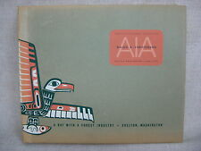 """Vtg 1953 AIA """"A Day with the Forestry Industry"""" B&W Architect Picture Book"""
