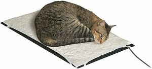 Farm Innovators HM-60S Plastic Heated Dog Cat Pet Mat with Fleece Cover 60-Watt