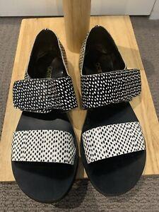 Gorman Spotty Black and White Sandals