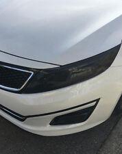 FITS: 14-15 Kia Optima headlight + fog light tint cover vinyl overlays