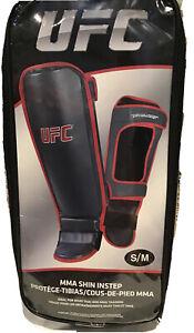 UFC MMA Shin Instep Pads Size S/M NIP Gray & Red