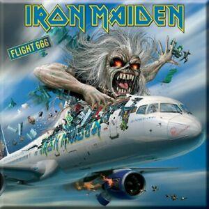 OFFICIAL LICENSED - IRON MAIDEN FLIGHT 666 - FRIDGE MAGNET EDDIE