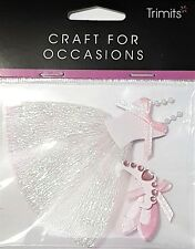 TRIMITS CRAFT FOR OCCASIONS EMBELLISHMENT STICKERS - DANCING PRINCESS BALLERINA