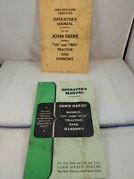 Vintage Operator's Manual for John Deere Models JA & JBA Tractor Disk Harrows (H
