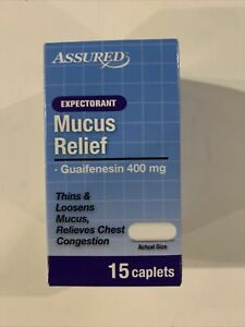 Guaifenesin 400mg Caplets Relieves Chest Congestion Compare Mucinex Expectorant