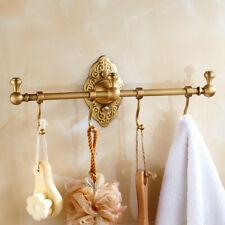 Bathroom Bath Towel Hook Hanger Clothes Accessory Shelf Brass Wall Mount Holder