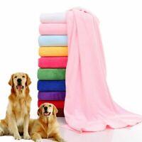 Pet Dog Cat Soft Quick-dry Lint-free Towel Bath Microfiber Drying Fas Cloth M4K9