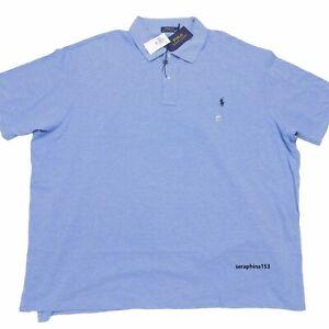 5XB Polo Ralph Lauren Mens Big Polo Shirt Short Sleeve Button 100% Cotton NWT