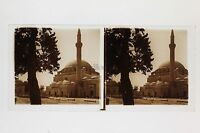 Constantinopla Mezquita Turquía Placa De Cristal Estéreo Positivo