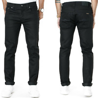 Nudie Mens Slim Fit Jeans | Grim Tim Org. Black Ring | 10.25oz Stretch Denim