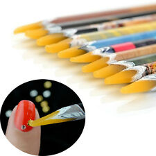 Pick Up Pen Wax Resin Gem Rhinestones Picker Pencil Crafts Nail Art Decor Long A