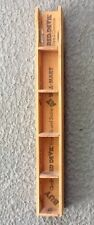 Vintage Shadow Box Miniatures Display Unit Shelf Paint Stirrer Hand Made Narrow