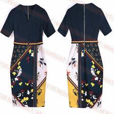 New Ted Baker MADIIY V Neck Floral Bodycon Belt Dress Navy